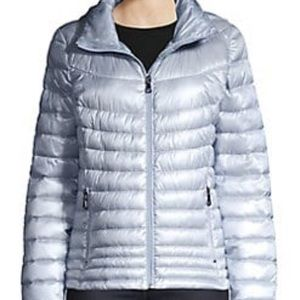 Design Lab by Lord & Taylor Blue Puffer Jacket NWT